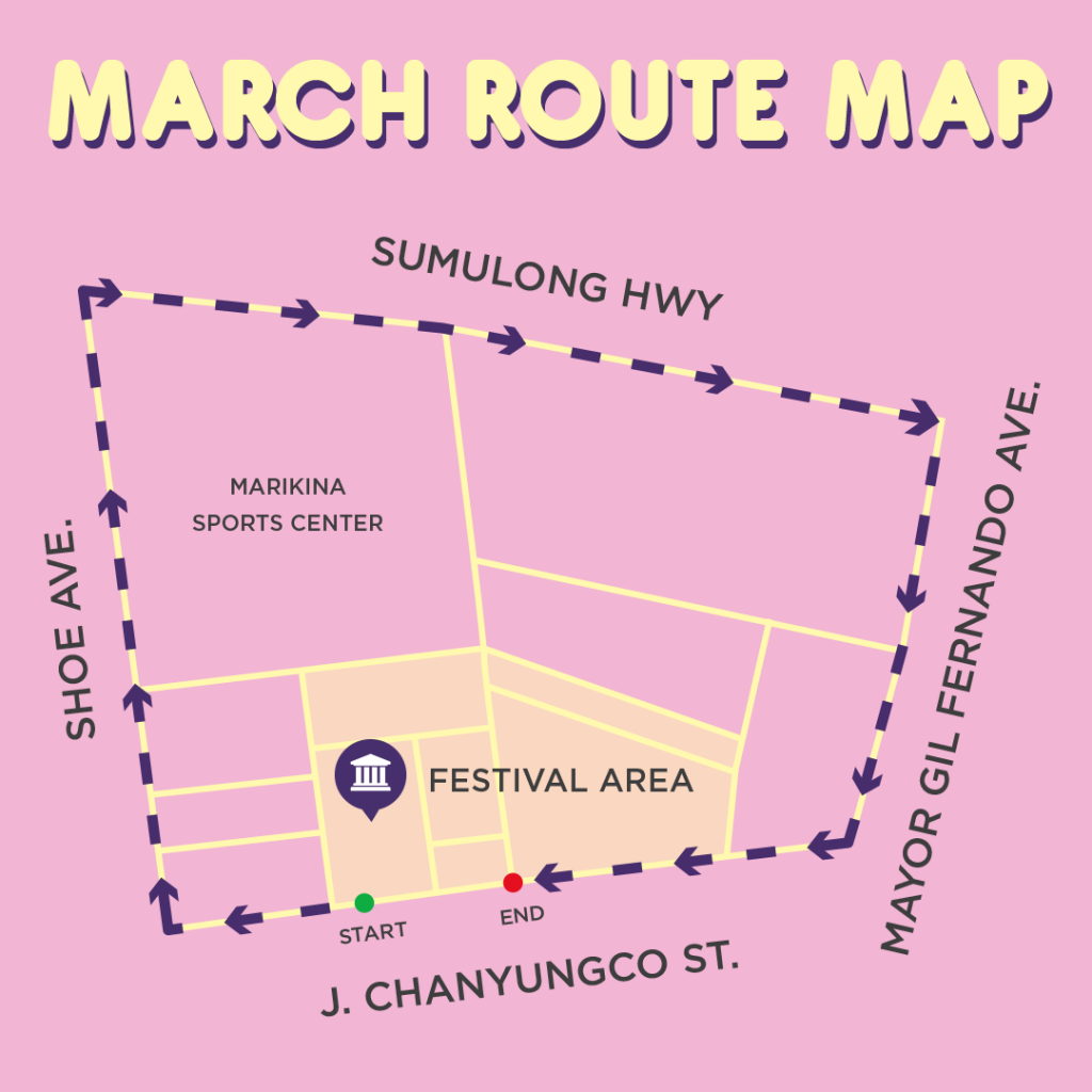 2017 Metro Manila Pride March Route