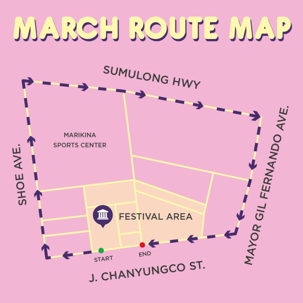 2017 Metro Manila Pride March Route