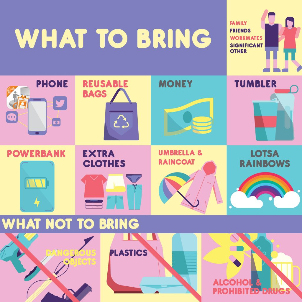 What to Bring to Pride 2017