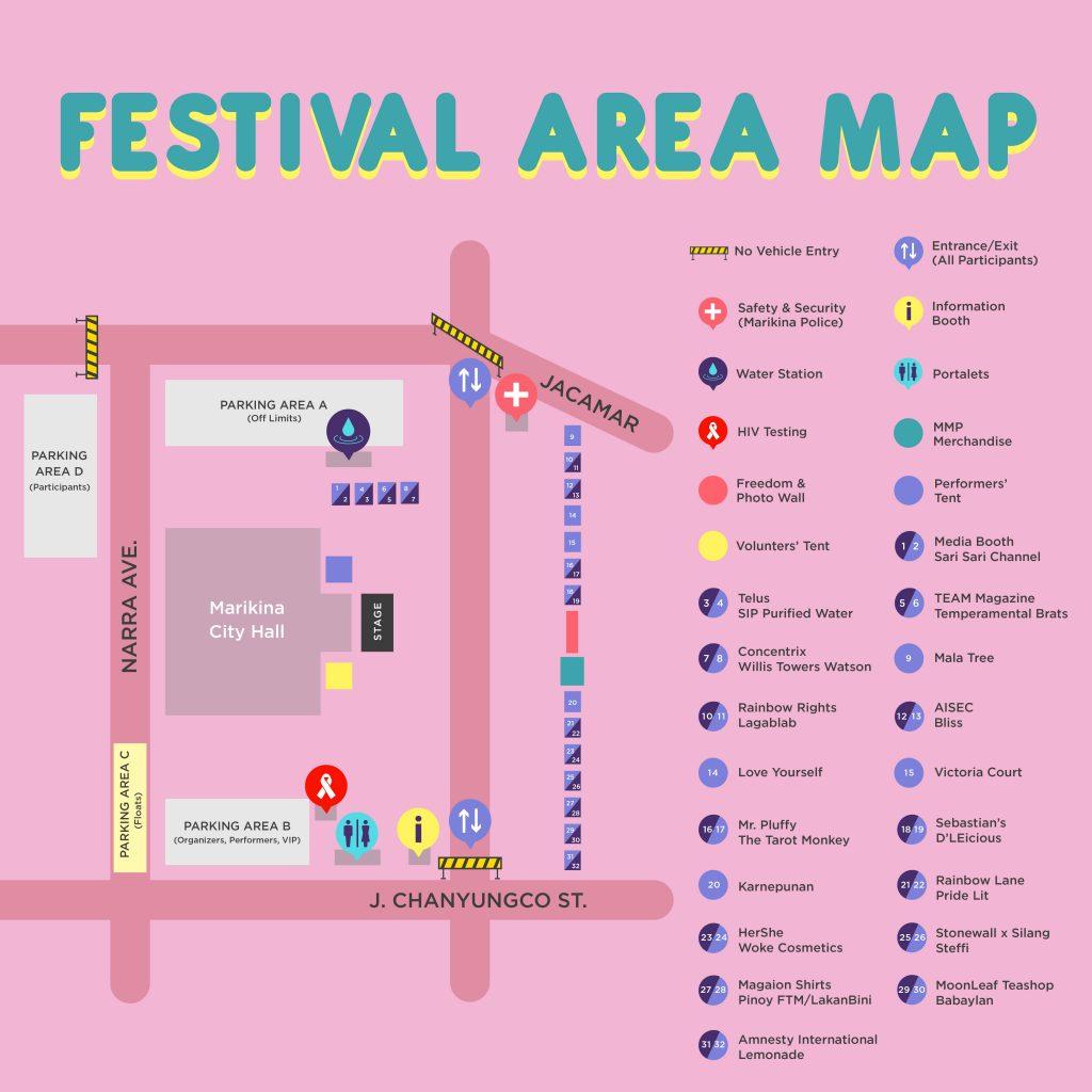 2017 Pride Festival Map